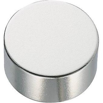 Conrad Components 505916 Kestomagneetti Pyöreä (Ø x K) 10 mm x 5 mm N35EH 1.18 - 1.2 T Lämpötilaraja (maks.): 200 °C