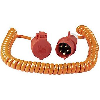 als - Schwabe 70416 Current Cable extension Orange, Red 5.00 m Spiral cable