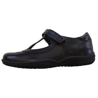 Geox flickskola Shadow T-bar skor svart