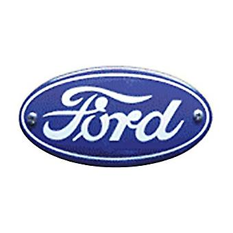 Ford Logo Oval Vitreous Enamelled Badge (105)