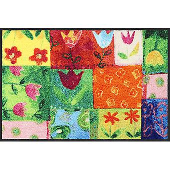 Salon lion tapis 50 x 75 cm Tulip quilt mat lavable saleté floral