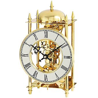 Table clock brass mechanical 14-day chiming clock on the Bell style clock style clock