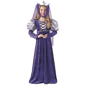 Renaissance Queen keskiaikainen Maidenin Lady Guinevere kirja viikko tyttöjen puku