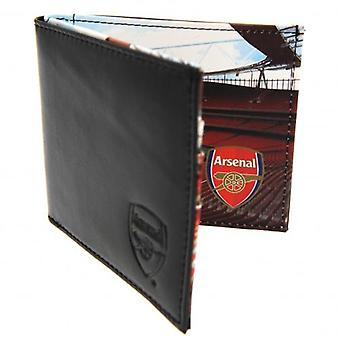 Arsenal Embossed Leather Wallet Panoramic 801