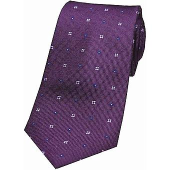 David Van Hagen cravatta di seta di piccoli fiori - viola