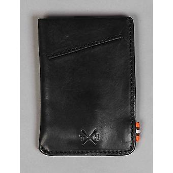 Tumble and Hide Chukka Leather Adept Card Holder - Black
