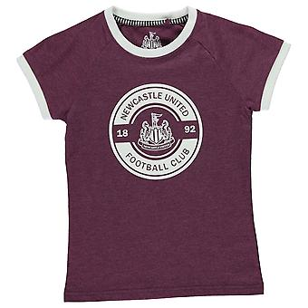NUFC bambini ragazze grafico maglietta girocollo
