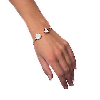 Pulsera mármol blanco-círculo pequeño