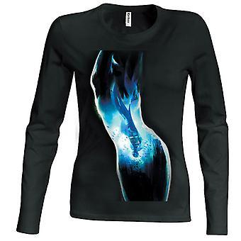 Batman Reflection Girlie Longsleeve T-Shirt