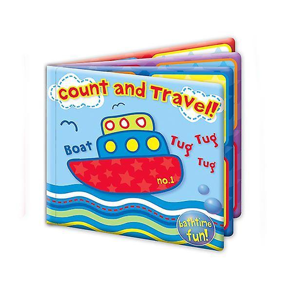 First Steps Bath Book Set of 2 Jungle and Travel Bathtime Fun 6m+