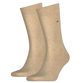 Tommy Hilfiger 2 Pack Classic Sock - Light Beige Melange