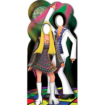 Disco koppel Stand-In - Lifesize karton gestanst / Standee