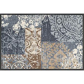 lavar + secar Armonia cinza tapete 40 x 60 cm, tapete lavável