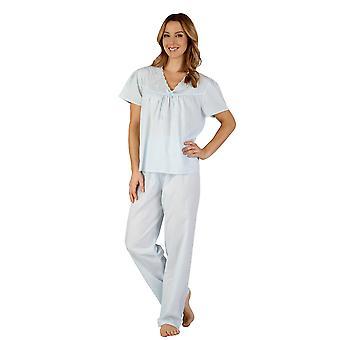 Slenderella PJ3203 Frauen gewebter Pyjama Pyjama-Set