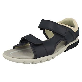 Boys Clarks Casual Strapped Sandals Rocco Wave