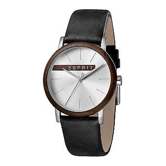 Esprit ES1G030L0035 Plywood Silver Black Men's Watch