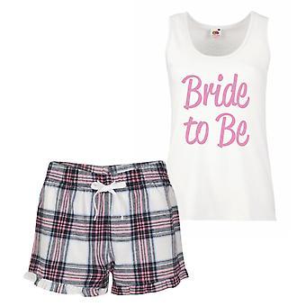 Bride To Be Pink Tartan Pyjamas
