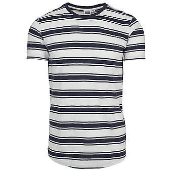 Urban Classics Men's T-Shirt Double Stripe Long Shaped