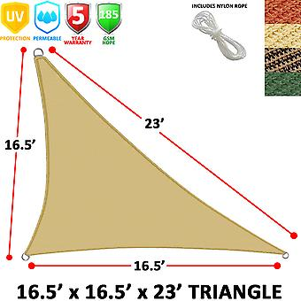 Modern Home Segel Schatten rechtwinkligen Dreiecks (16,5 ' x 16,5' x 23