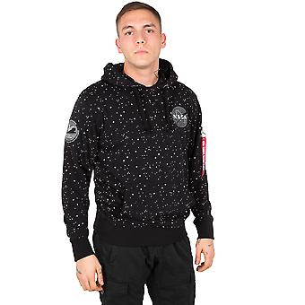 Alpha industries men's Hooded sweater NASA starry