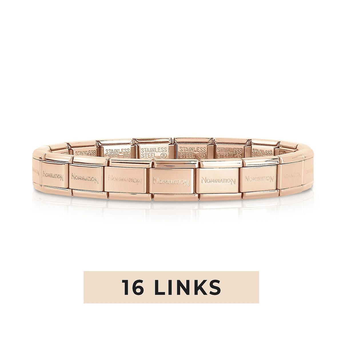 Nomination Classic 16 Link Composable Rose Gold Steel Starter Bracelet 030001/SI/011/16