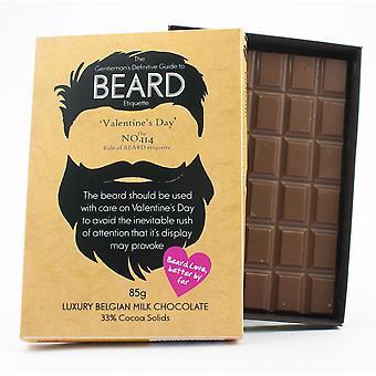 ひげを生やした男性ひげ恋人のための面白いバレンタイン'sの日の贈り物プレゼントチョコレートグリーティングカードBTQ120