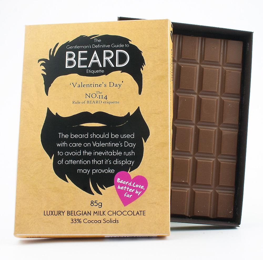 Funny Valentine's Day Gift for Bearded Men Beard Lover Present Chocolate Greeting Card BTQ120