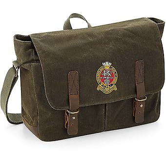 Prince of Wales Own Regiment Of Yorkshire PWRR - Licensed British Army Embroidered Waxed Canvas Messenger Bag