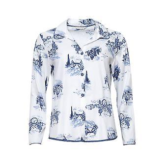 Cyberjammies 4236 vrouwen ' s Harper wit mix Londen bedrukte pyjama top
