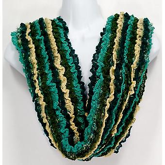 Collection XIIX Brushed Feather & Ruffle Green Scarf A227324