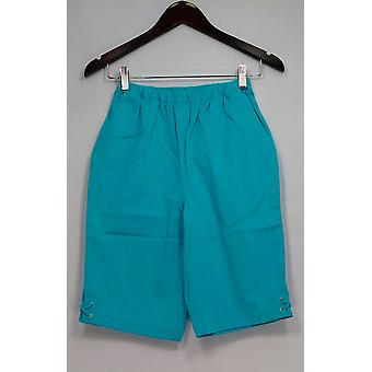 Denim & Co. Shorts Classic Waist Side Lace-Up Bermuda Blue A233552