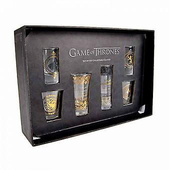 Joc de Thrones negru & Gold Premium Glass set