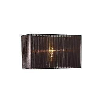 Diyas Florence Rectangle Organza Shade, 380x190x230mm, Black, For Table Lamp