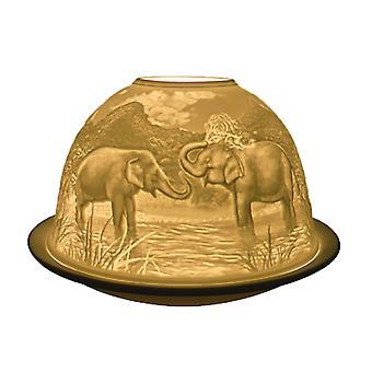 Light Glow Dome Tealight Holder, Elephant
