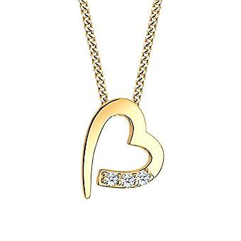 Diamore Necklace with Pendant to Heart from Woman Gold Yellow 14K