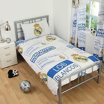 Real Madrid CF Childrens/Kids Official Patch Football Crest Duvet Set