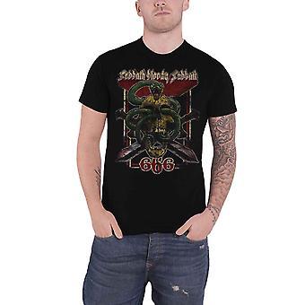 الأسود يوم السبت T قميص الدموية السبت 666 الأسى الشعار الجديد الأسود رجالي رسمية