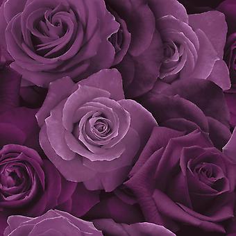 Austin Rose tapet lilla Arthouse 675601