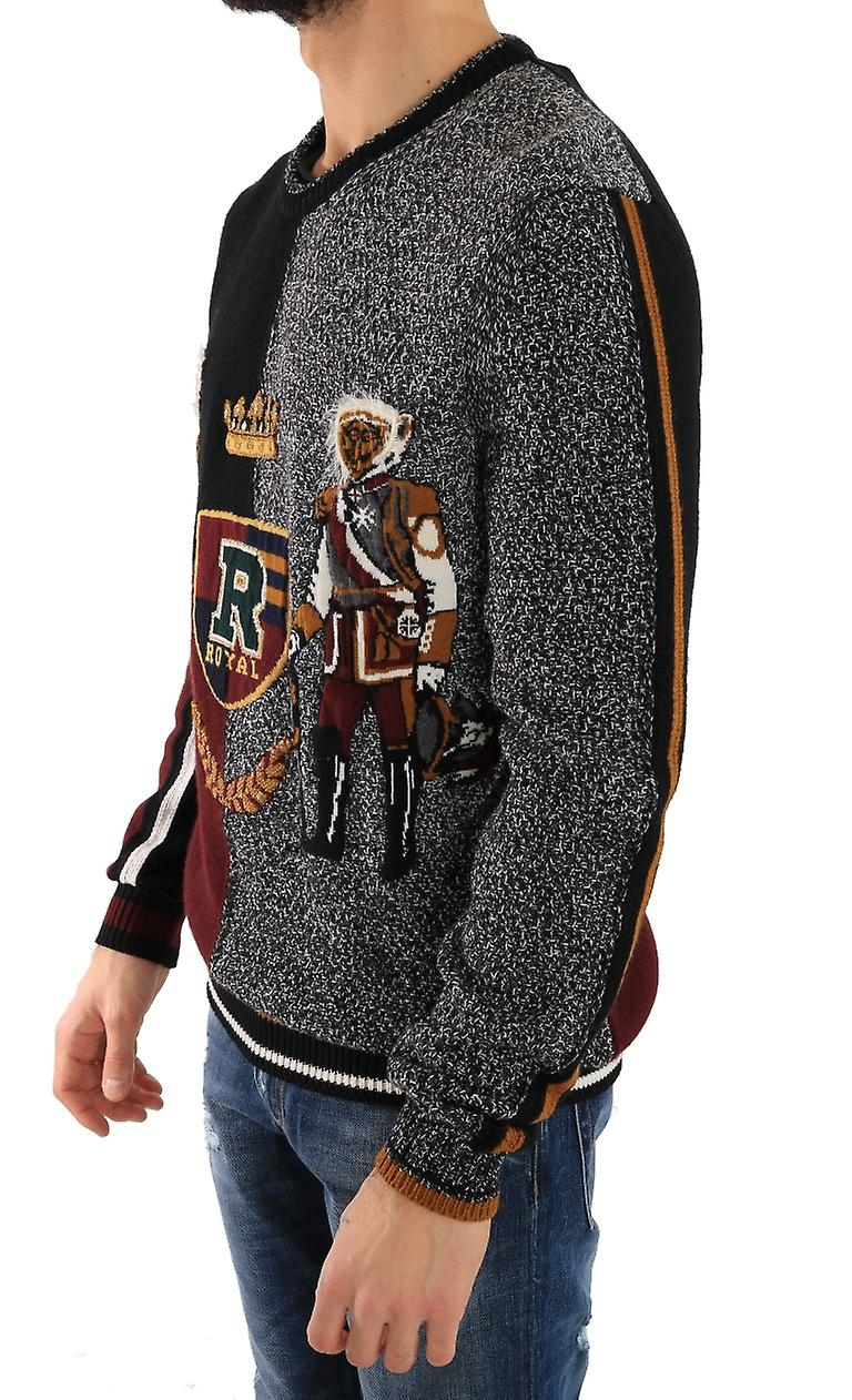 Multicolor Knitted Cashmere Wool Sweater