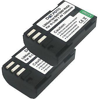 2 x Dot.Foto Pentax D-LI90 substituição bateria - 7.4 v / 1500mAh