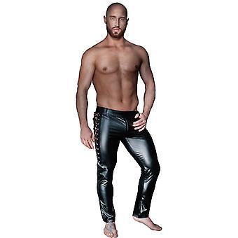 Wetlook pantalones con cordón