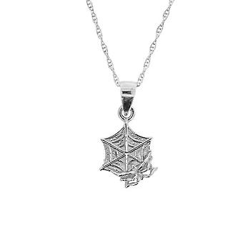 Folklore Spider Web Necklace Pendant - Includes a 16