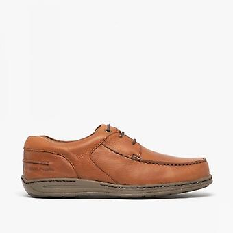 Hush Puppies Winston Victory Mens Leather Casual Shoes Brown