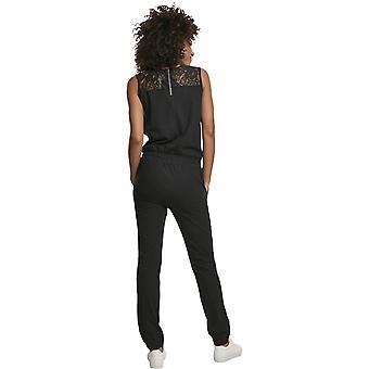 Urban Classics Ladies - Spitze Lace Jumpsuit schwarz