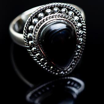 Psilomelane Ring Size 8.75 (925 Sterling Silver)  - Handmade Boho Vintage Jewelry RING982732