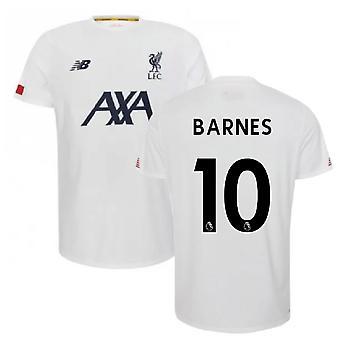 2019-2020 Liverpool Pre Game Jersey (valkoinen) (BARNES 10)