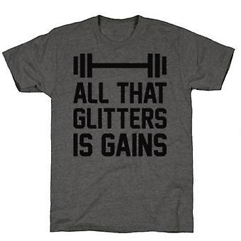 Alles wat Glitters is winsten houtskool t-shirt