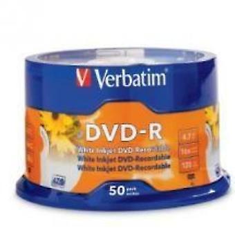 Verbatim DVD-R 4.7GB 50Pk Biały atramentJet 16x