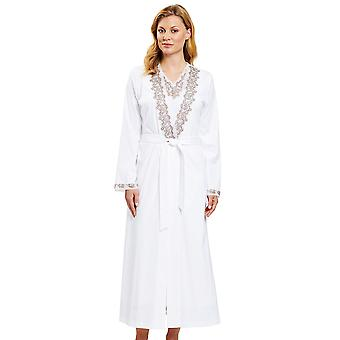 Féraud 3201097-15648 Women's Couture White Leopard Print Dressing Gown