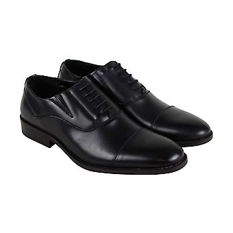 Unlisted by Kenneth Cole Half Lace Up Mens Black Dress Lace Up Oxfords Shoes